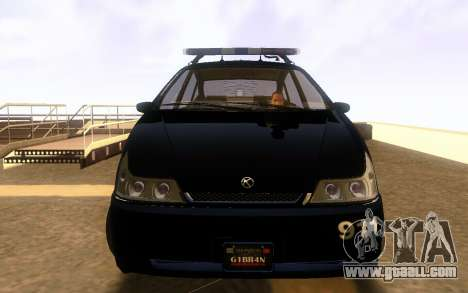Karin Dilettante Police Car for GTA San Andreas left view