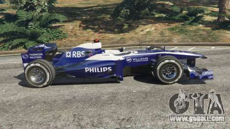 GTA 5 Williams FW32 left side view