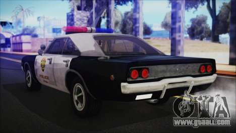 Police Car R.P.D. from RE 3 Nemesis for GTA San Andreas left view