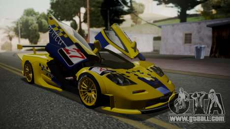 McLaren F1 GTR 1998 Parabolica for GTA San Andreas back view