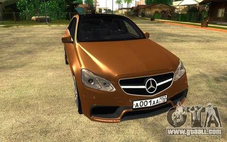 Mercedes Benz E63 AMG for GTA San Andreas