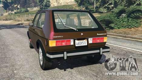GTA 5 Volkswagen Rabbit 1986 v2.0 rear left side view