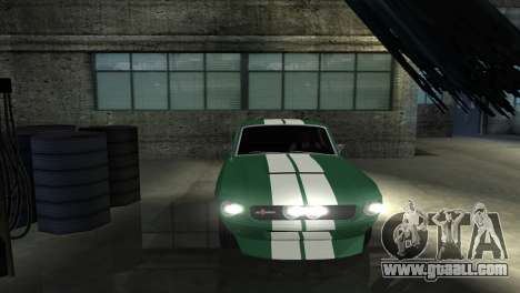 Ford Mustang Shelby GT500 1967 for GTA San Andreas side view