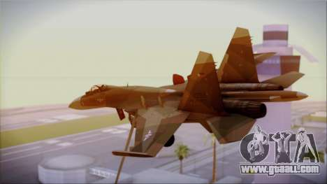 SU-27 Flanker A Philippine Air Force for GTA San Andreas left view