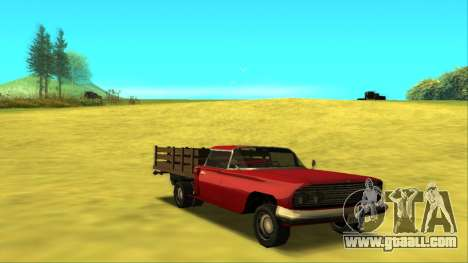 Voodoo El Camino v2 (Truck) for GTA San Andreas back view