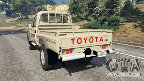 GTA 5 Toyota Land Cruiser LX Pickup 2016 rear left side view