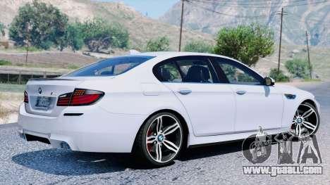 GTA 5 BMW M5 F10 2012 back view