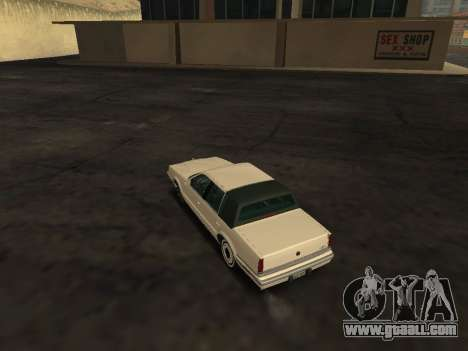 Chrysler New Yorker 1988 for GTA San Andreas back left view