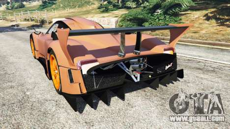 GTA 5 Pagani Zonda R v0.9 rear left side view