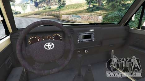 GTA 5 Toyota Land Cruiser LX Pickup 2016 rear right side view