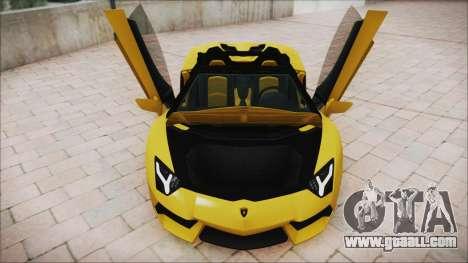 Lamborghini Aventador LP700-4 Roadster 2013 for GTA San Andreas bottom view
