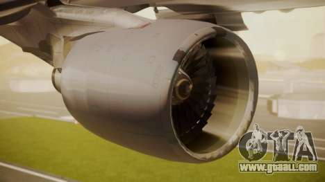 Airbus A330-300 American Airlines for GTA San Andreas right view