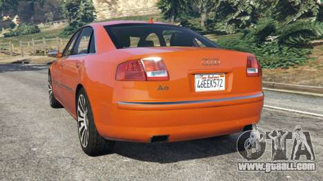 GTA 5 Audi A8 v1.1 rear left side view