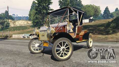 GTA 5 Ford Model T [two colors] right side view