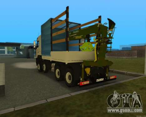 MAZ 6430 with a crane for GTA San Andreas back left view