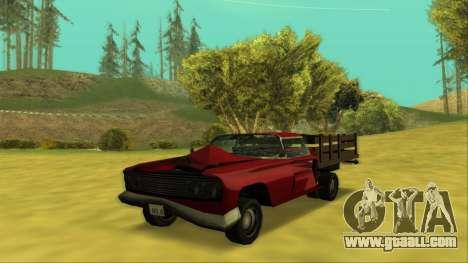 Voodoo El Camino v2 (Truck) for GTA San Andreas bottom view