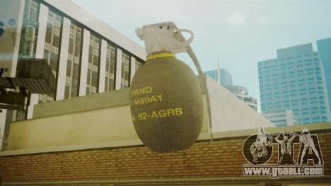 GTA 5 Grenade for GTA San Andreas