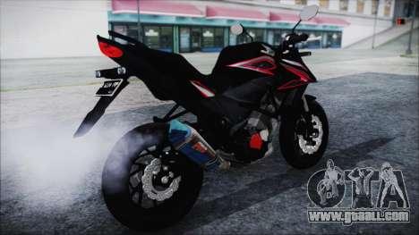 Honda CB150R Black for GTA San Andreas back left view