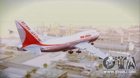 Boeing 747-437 Air India Tanjore New Skin for GTA San Andreas left view