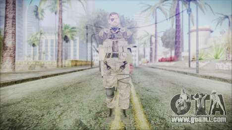 MGSV Phantom Pain Snake Scarf Olive Drab for GTA San Andreas second screenshot
