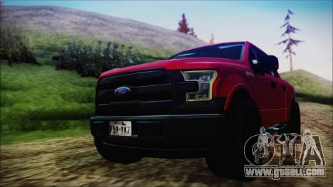 Ford F-150 2015 Sport for GTA San Andreas back left view