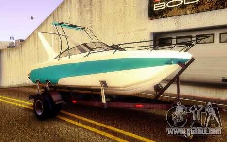 GTA V Boat Trailer for GTA San Andreas right view
