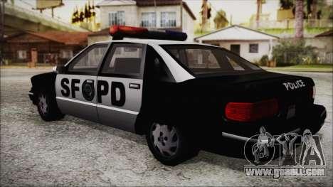 Beta SFPD Cruiser for GTA San Andreas left view