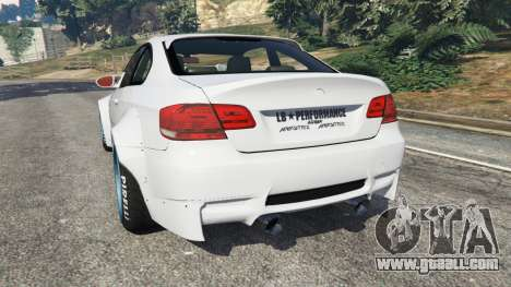 GTA 5 BMW M3 (E92) [LibertyWalk] v1.1 rear left side view