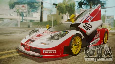 McLaren F1 GTR 1998 Lemans McLaren for GTA San Andreas bottom view