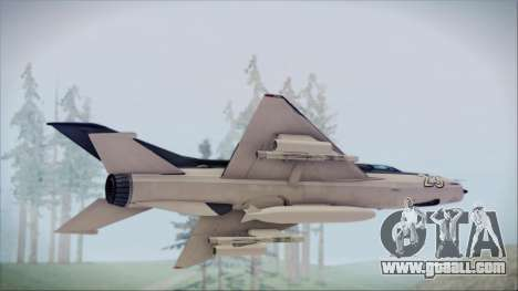 MIG-21MF URSS for GTA San Andreas back left view
