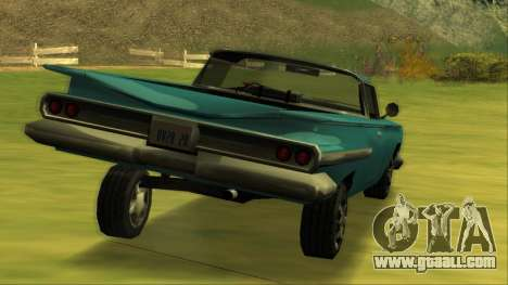 Voodoo El Camino v1 for GTA San Andreas bottom view