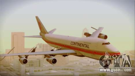 Boeing 747-200 Continental Airlines Red Meatball for GTA San Andreas back left view