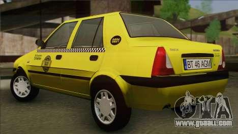 Dacia Solenza Taxi for GTA San Andreas left view