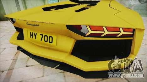 Lamborghini Aventador LP700-4 Roadster 2013 for GTA San Andreas inner view