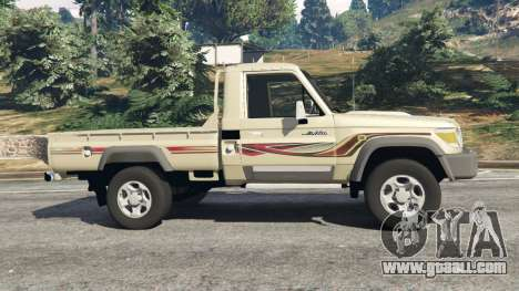 GTA 5 Toyota Land Cruiser LX Pickup 2016 left side view