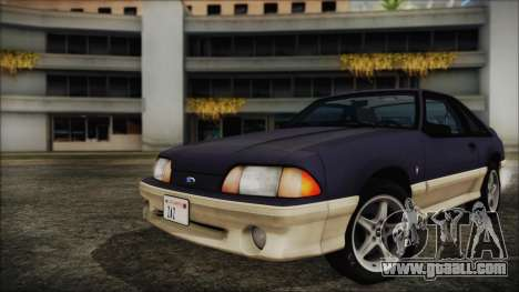 Ford Mustang Hatchback 1991 v1.2 for GTA San Andreas