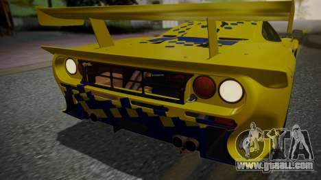 McLaren F1 GTR 1998 Parabolica for GTA San Andreas bottom view