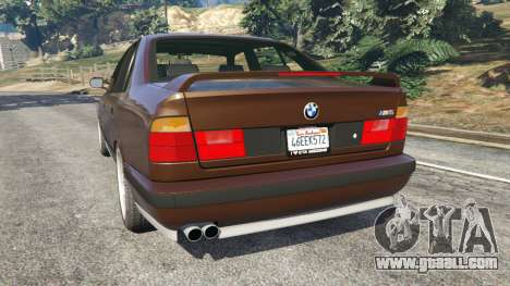GTA 5 BMW M5 (E34) 1991 v2.0 rear left side view