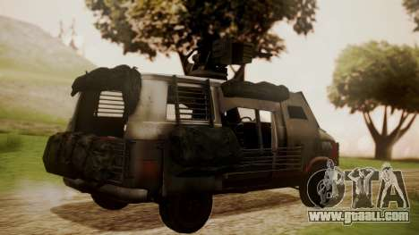 BF3 Rhino for GTA San Andreas left view