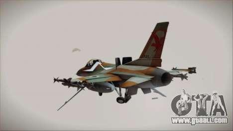 F-16C Block 25 Israeli Air Force for GTA San Andreas left view