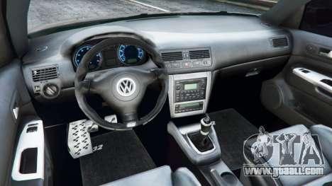 GTA 5 Volkswagen Golf Mk4 R32 rear right side view