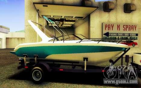 GTA V Boat Trailer for GTA San Andreas left view