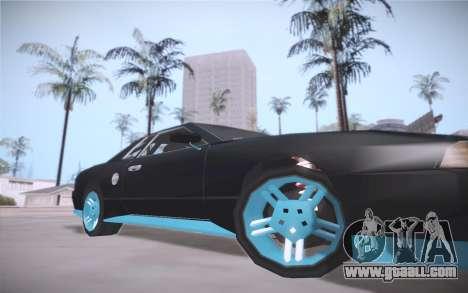 Elegy DRIFT KING GT-1 (Stok wheels) for GTA San Andreas left view