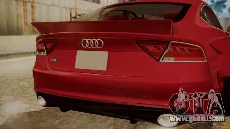 Audi RS7 X-UK L3D for GTA San Andreas back view
