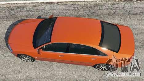 GTA 5 Audi A8 v1.1 back view