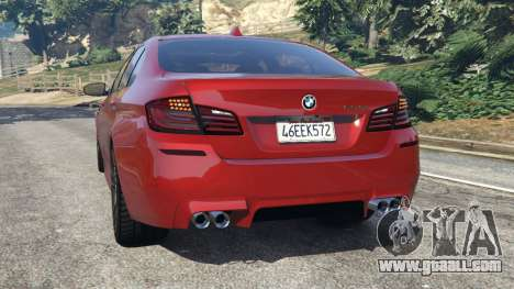 GTA 5 BMW 535i 2012 rear left side view