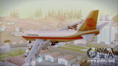 Boeing 747-200 Continental Airlines Red Meatball for GTA San Andreas left view