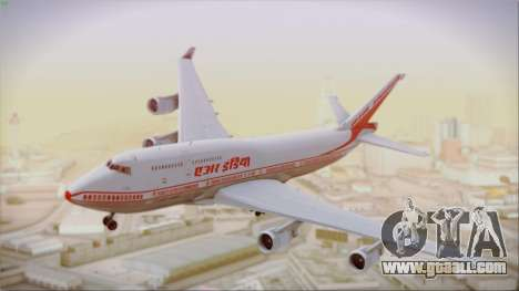 Boeing 747-437 Air India Tanjore New Skin for GTA San Andreas back left view