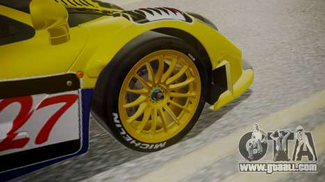 McLaren F1 GTR 1998 Parabolica for GTA San Andreas back left view