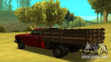 Voodoo El Camino v2 (Truck) for GTA San Andreas back left view
